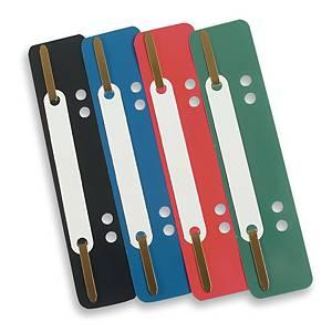 Lamelles Flexi MultiCom pour des documents perforés, bleues, la boîte de 100