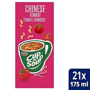 Soupe à la tomate à la chinoise Cup-a-Soup, la boîte de 21 sachets