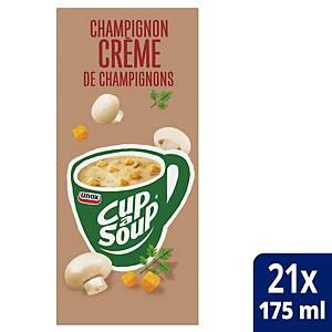 Crème de champignons Cup-a-Soup, la boîte de 21 sachets