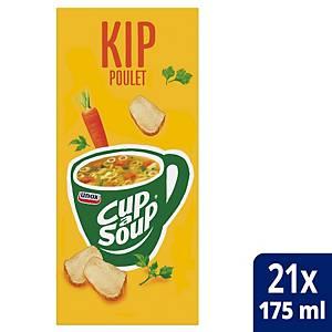 Soupe au poulet Cup-a-Soup, la boîte de 21 sachets
