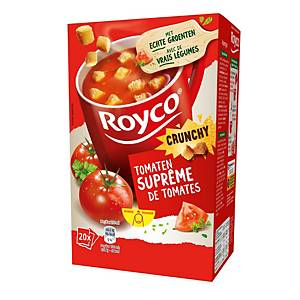 Royco Crunchy Suprême de Tomates, la boîte de 20 sachets