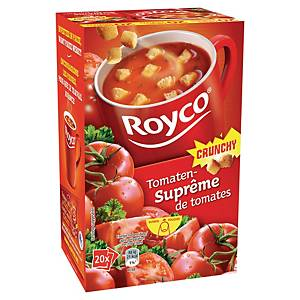 Soupe Royco suprême de tomates et croûtons - boîte de 20 sachets