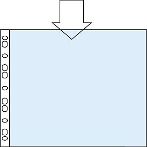 Pack de 100 micas multifuro Esselte - A4 - PP rugoso - 55 μ