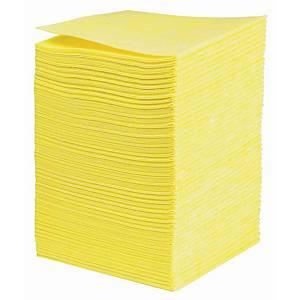 Chiffon non tissé, 38 x 40 cm, jaune, le paquet de 50 pièces