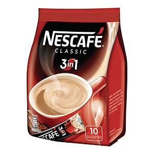 Kawa rozpuszczalna NESCAFÉ 3in1 Classic, 10 saszetek po 16,5 g
