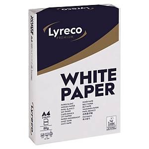 Papier photocopieur Lyreco Premium A4, 80g/m2, blanc, 1/4 palette de 25000flles