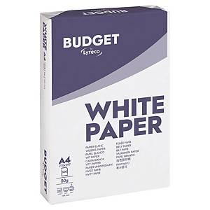 Papier Lyreco Budget A4, 80 g/m2, blanc, Palette de 100 000 flles