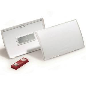 Porte-nom Click Fold DURABLE 8212 40 x 75 mm avec aimant, paq. 10unités