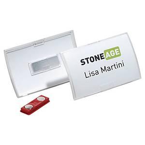 Namensschild Durable 8215, 90 x 54mm, mit Magnet, 10 Stück