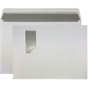 Enveloppes c4 fen tre droite 120 g m2 blanc for Enveloppe c4 avec fenetre