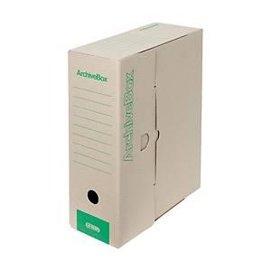 Archivačné prenosné krabice Emba 33 x 26 x 11 cm prírodné, balenie 25 kusov