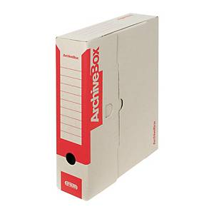 PK25 EMBA C/B ARCHIVAL BOX 75MM A4 RED