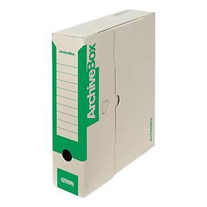 Archivačné prenosné krabice Emba, 33 x 26 x 7,5 cm, zelené, balenie 25 ks