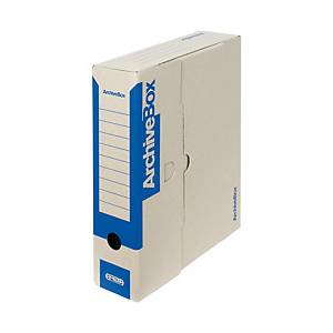 Emba hordozható archiváló doboz, kék, 33 x 26 x 7,5 cm, 25 darab/csomag