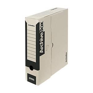 Archivačné prenosné krabice Emba, 33 x 26 x 7,5 cm, čierne, balenie 25 ks