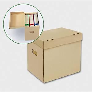 Archivační úložné krabice Emba - 35 x 24 x 30 cm, přírodní