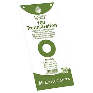 PK100 EXACOMPTA FILING STRIP 105X240 BLU
