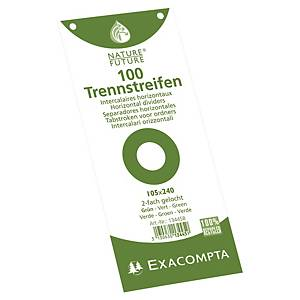 PK100 EXACOMPTA FILING STRIP 105X240 GR