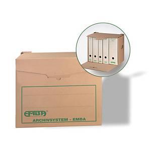 Emba archiváló doboz, 40 x 33,5 x 26,5 cm, természetes