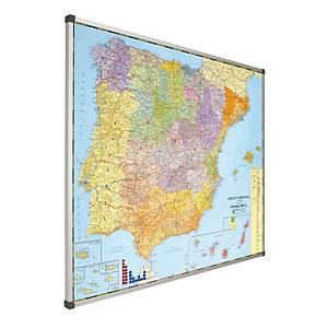 Mapa magnético de Espanha e Portugal Faibo - 1030 x 1290 mm