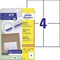 Univerzálne etikety Avery, 6120, 105 x 148 mm, 4 etikety/hárok