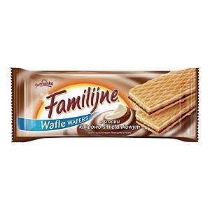 Wafle FAMILIJNE śmietankowo-kakaowe, 180 g