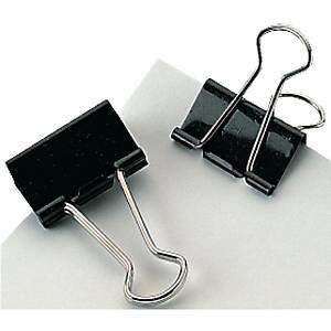 Foldback-Klemmer, Breite: 15mm, Klemmweite: 7mm, schwarz, 12 Stück