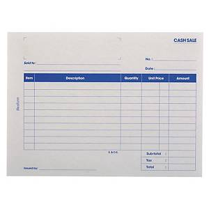 Besform Cash Sales Pre Printed Pads NCR 2 Ply - 2 X 25 Sheets