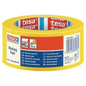 tesa® 60760 PVC Floor tape, 50 mm x 33 m, yellow