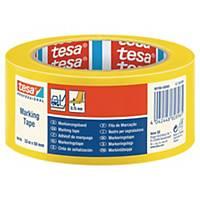tesa® 60760 PVC jelzőszalag, 50 mm x 33 m, sárga