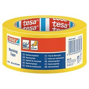 Cinta de señalización adhesiva Tesa - 50 mm x 33 m - amarillo