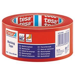 Gulvtape Tesa Professional 60760, 50 mm x 33 m, rød
