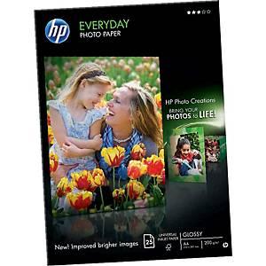 Pacote de 25 folhas de papel fotográfico inkjet HP Q5451A - A4 - 200 g/m²