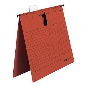 Skoroszyt zawieszkowy FALKEN A4 czerwony opakowanie 25 sztuk