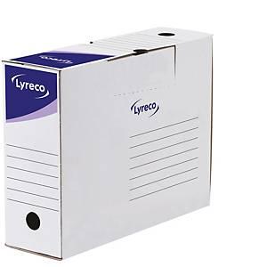 Pack 10 caixas de arquivo morto Lyreco - fólio prolongado - lombada 100 mm