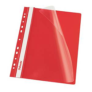 ESSELTE 13585 PUNCH FLAT FILE PP A4 RED