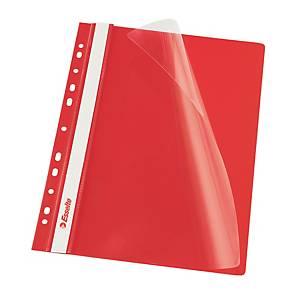 Závesný prezentačný rýchloviazač Esselte, A4, červený, balenie 10 kusov