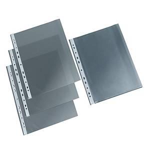 Punch folder A4, transparent, 38mi, pack of 100