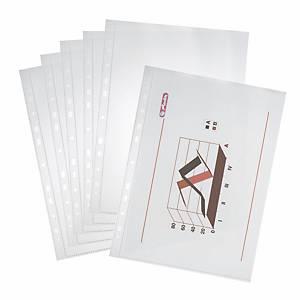 Herlitz Prospekthülle, A4, 45 μm, glänzend, Packung mit 100 Stück