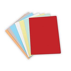 Pack 50 pastas classificadoras Gio By Elba - A4 - cartolina - vermelho pastel