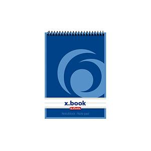 HERLITZ TOP SPIRAL PAD A6 50SHT RULED