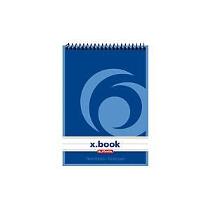Špirálový zápisník Herlitz, A6, linajkový, 100 strán