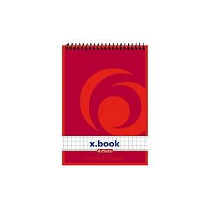 Špirálový zápisník Herlitz, A6, štvorčekový, 100 strán