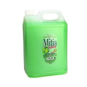 Mitia folyékony szappan, zöld alma illatú, extra hidratáló, 5000 ml