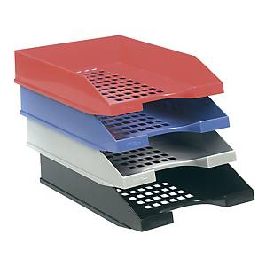 Tabuleiro de secretária com grelha Archivo 2000 710 - poliestireno - vermelho