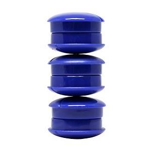 Lyreco valkotaulumagneetti 27mm sininen, 1 paketti=6 kappaletta