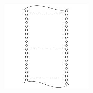 Papír tűs nyomtatókba, 54 + 54 g/m², 1 + 1 réteg, 240 mm x 6 , 1 000 ív/karton