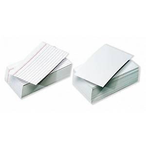 Pack 100 fichas de recarga Exacompta - 75 x 125 mm - pautado horizontal