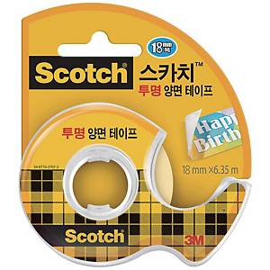 3M 237 D/SIDED TAPE 18X7.6 W/DISP