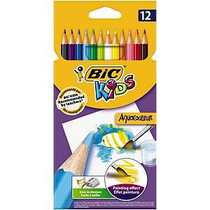 Bic Kids Aquacouleur crayons couleur assorti - le paquet de 12